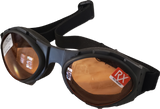 Bugeye Goggles with Matte Black Frame & Amber Lenses