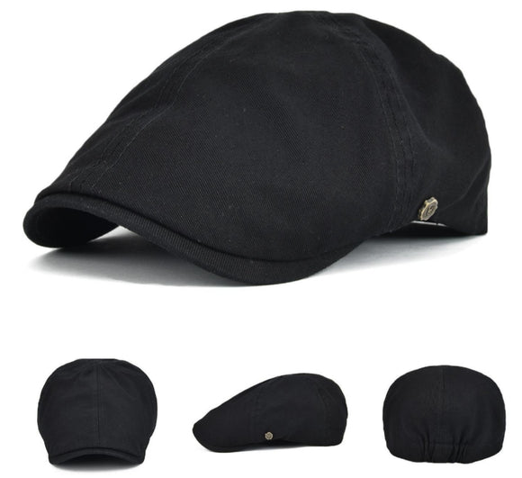 Lightweight Cotton Newsboy Flat Cap