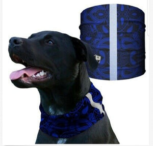 """BLUE PAISLEY"" Reflective Dog Shield"
