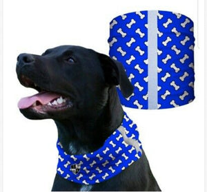 """BLUE BONES"" Reflective Dog Shield"