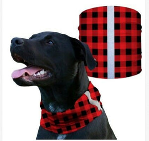 """RED PLAID"" Reflective Dog Shield"