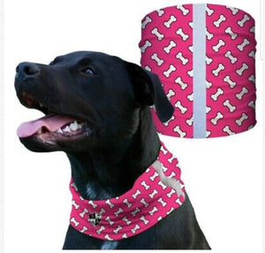 """PINK BONES"" Reflective Dog Shield"
