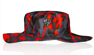 FIRE BLACKOUT MILITARY CAMO BUCKET HAT