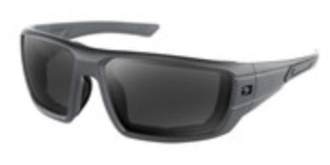 Mission Matte Grey Ballistics Anti-Fog Smoked Lenses by Bobster