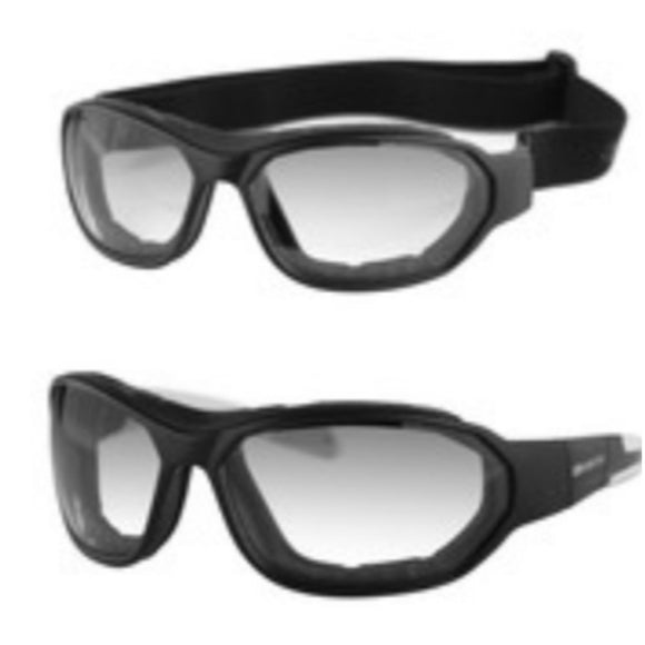 Force Transitional Glasses / Goggles Anti-Fog Clear to Smoked Lense by Bobster