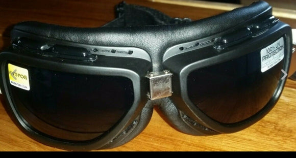 Bobster Pilot Matte Black Goggle with 2 sets of Anti-Fog Lenses