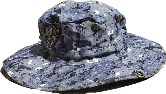 GREY DIGITAL CAMO Bucket Hat