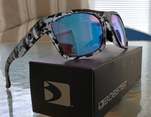 Matt Grey Turquoise Route with Purple HD / Light Blue REVO Lenses