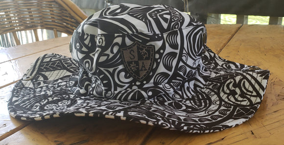 Black and White Polynesian Boonie