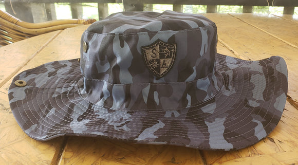 Military Grey Camo Bucket Hat
