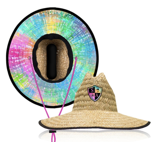 Rainbow Under Brim Straw Hat