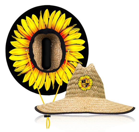 Yellow Daisey Under Brim Straw Hat