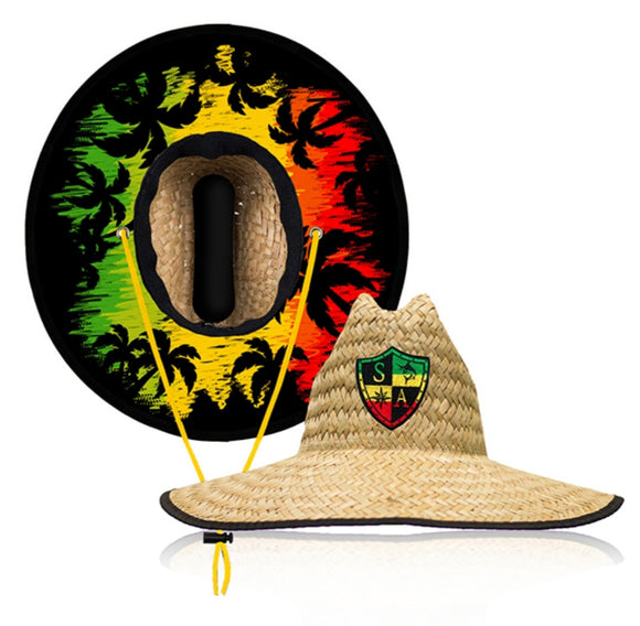 Rasta Under Brim Straw Hat