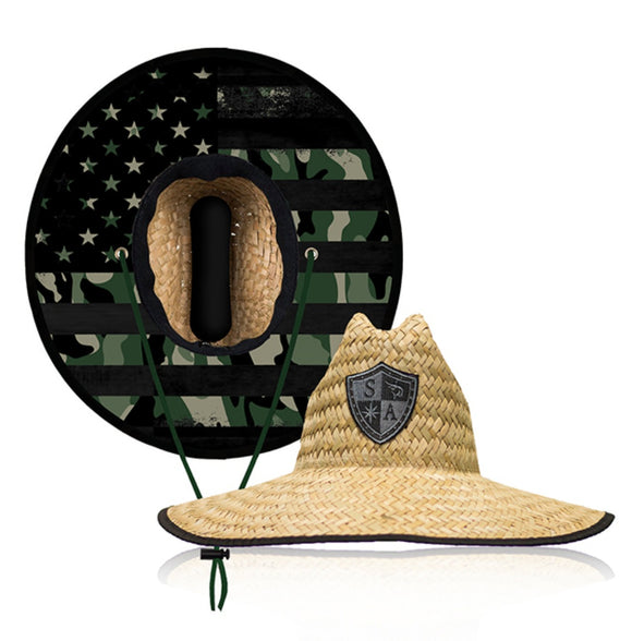 Patriot Under Brim Straw Hat