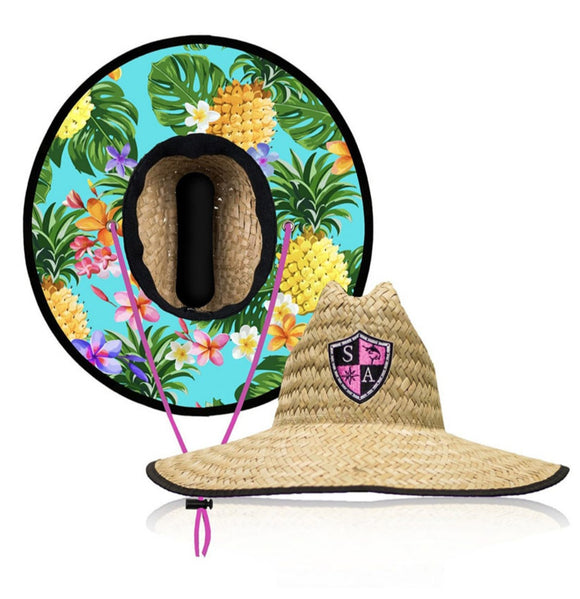 Tropical Under Brim Straw Hat
