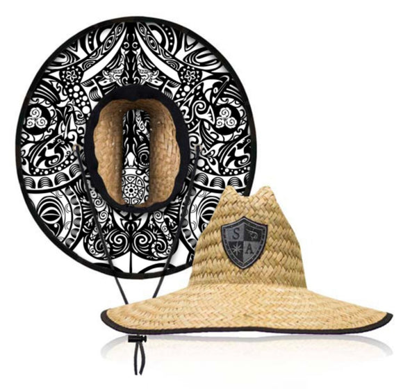 Polynesian Under Brim Straw Hat