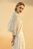 Diamond Encrusted Tweed Short Loose Coat