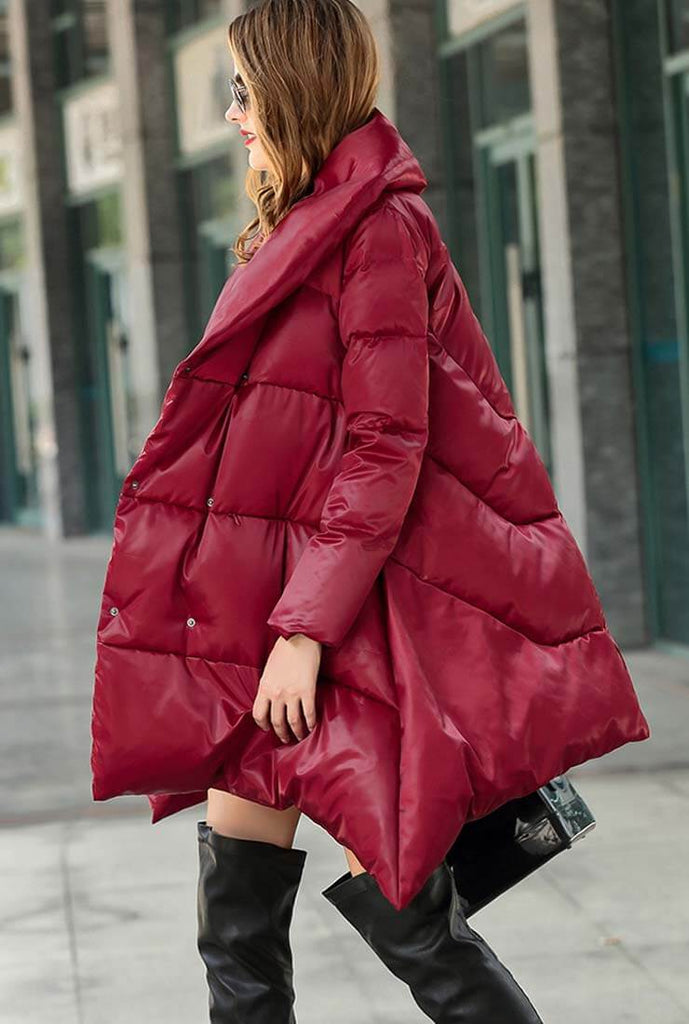 A-line Loose Cape Down Puffer Jacket
