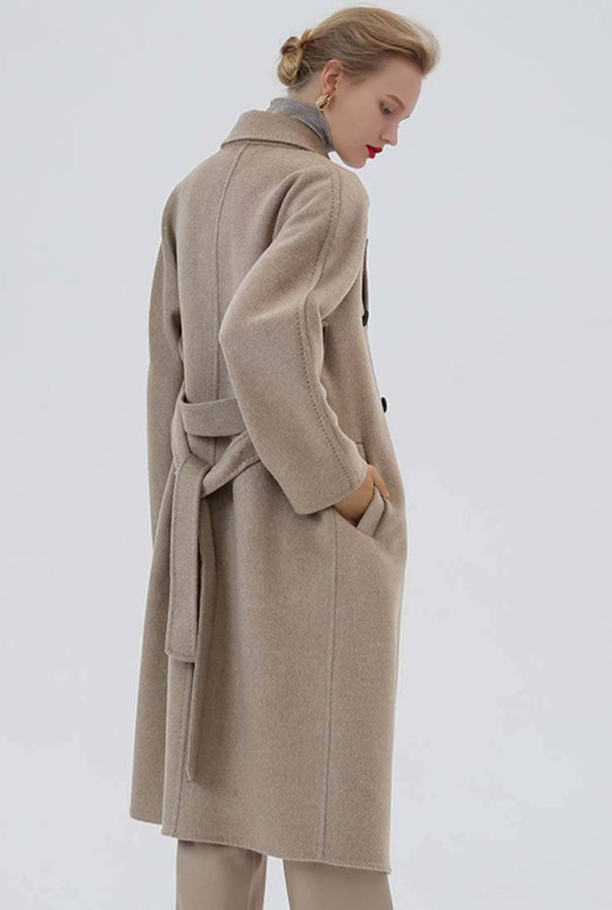 Belted Reversible Double-breasted Wool Trench Coat
