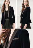 Blue Velvet Short Slim-fit Blazer