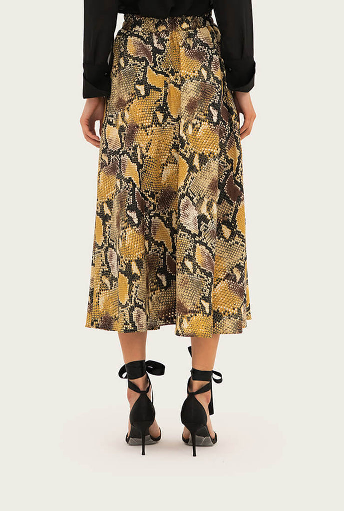 Bohemian Leopard High Waist Skirt