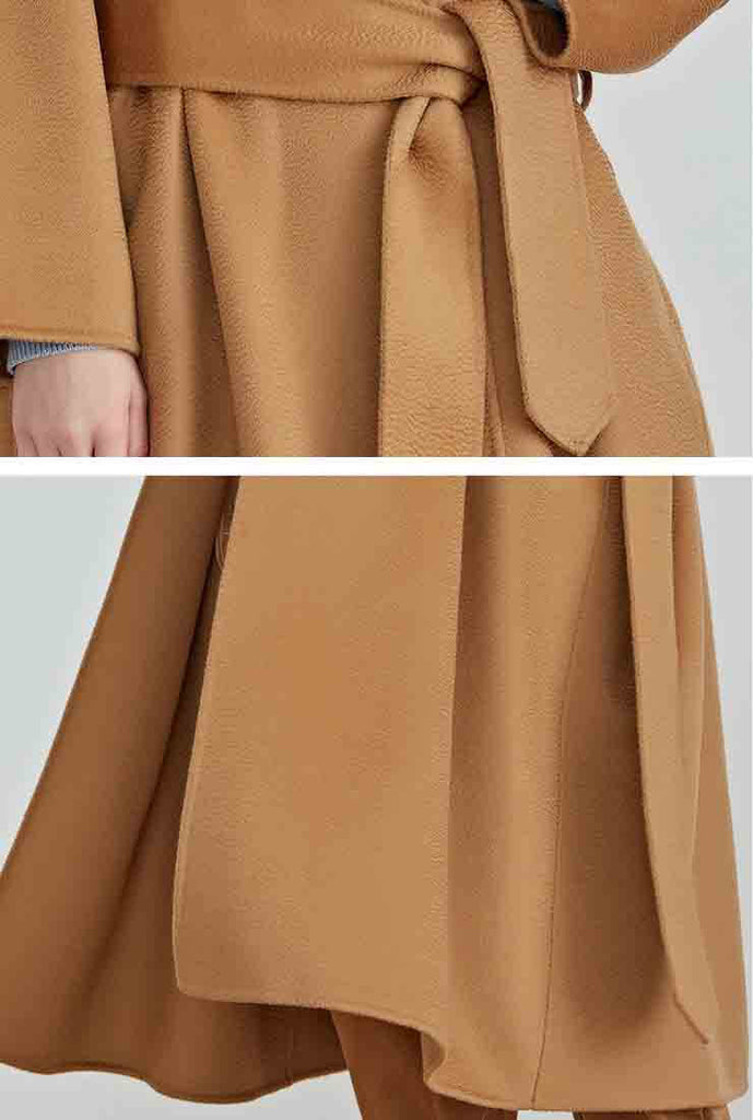 100% Wool Double-Sided Cashmere Long Coat