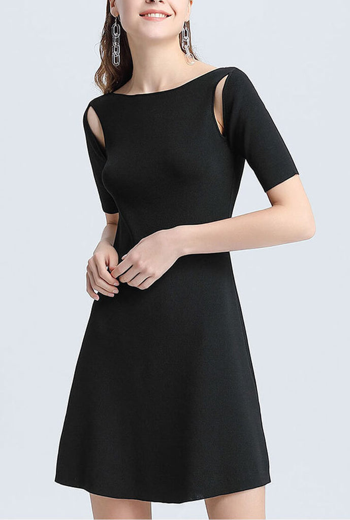Casual Slim Mini Sweater Dress