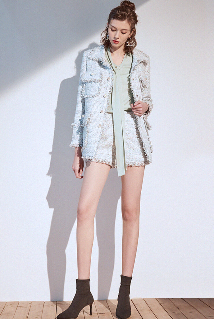 Beaded Decoration Classic Tweed Jacket