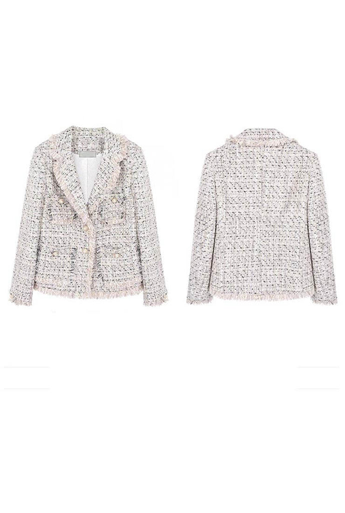 Chanel Tweed Tassels Lapel Jacket