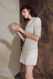 Classic Tweed Slim-fit A-line Mini Dress