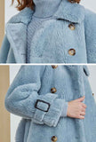 Double-breasted Faux Fur Wool Blend Teddy Coat