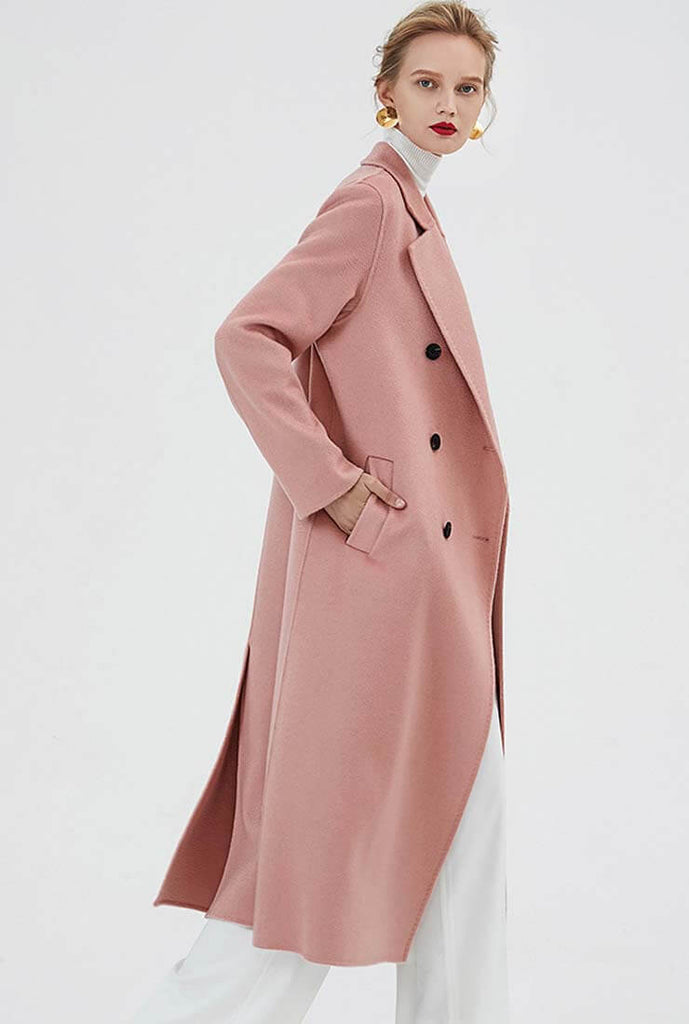 Double-breasted Cashmere Trench Coat