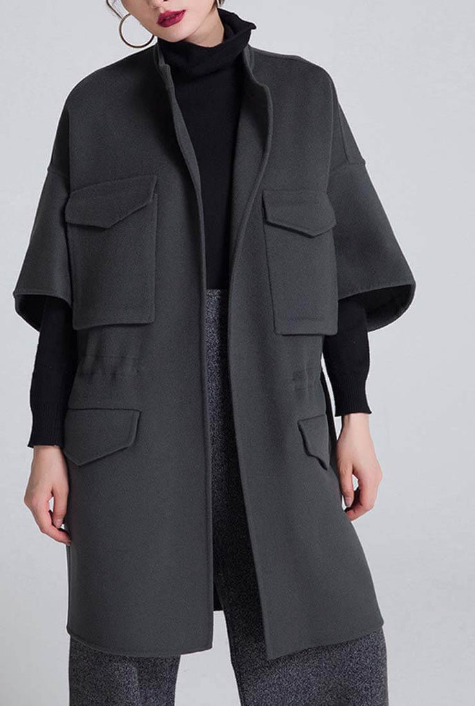 Double-sided Loose Wool Cardigan Coat