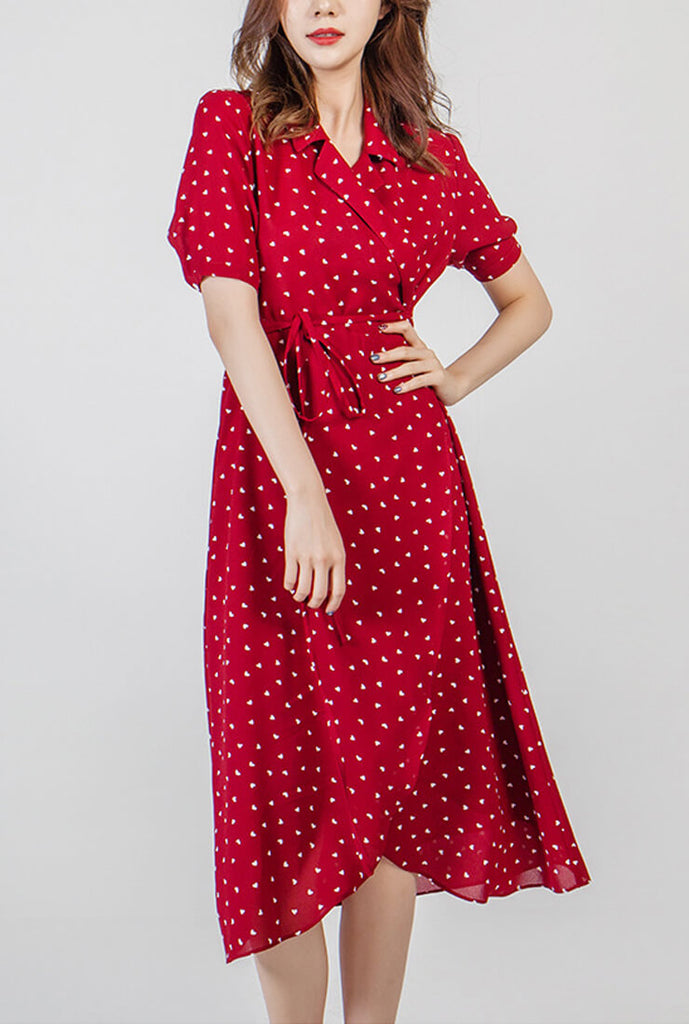 Fashion Floral  Slim Midi Tea Dress