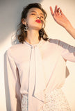 Fashion Pink Chiffon Shirt