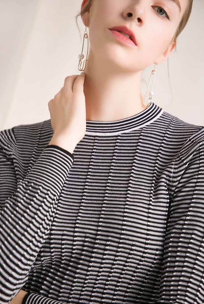 Fashion Slim Long Sleeve Pullovers Sweaters