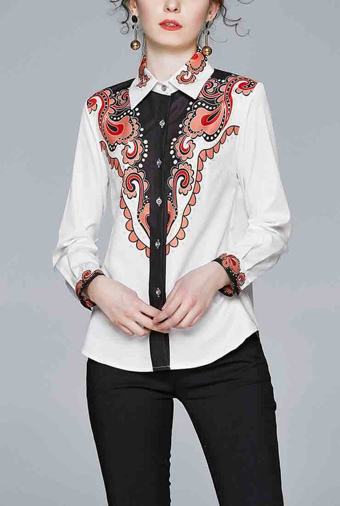 Floral Printed Claassic-fit Shirt