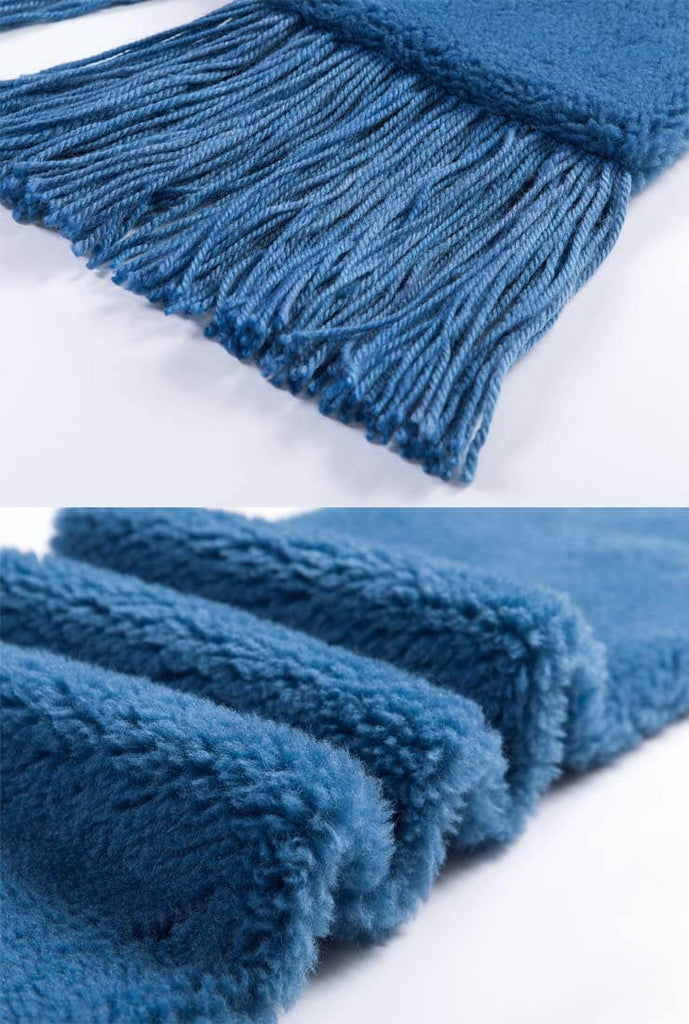 Fringed Thick Wool Winter Scarf