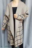 Hand Stitched Reversible Cashmere Wool Overcoat