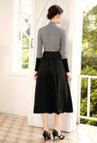 High Waist Long Skirt Sweater Suit