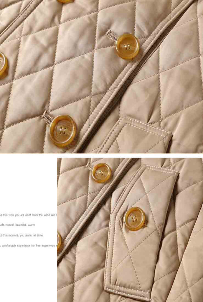London Fog Double Breasted Quilted Puffer Jacket
