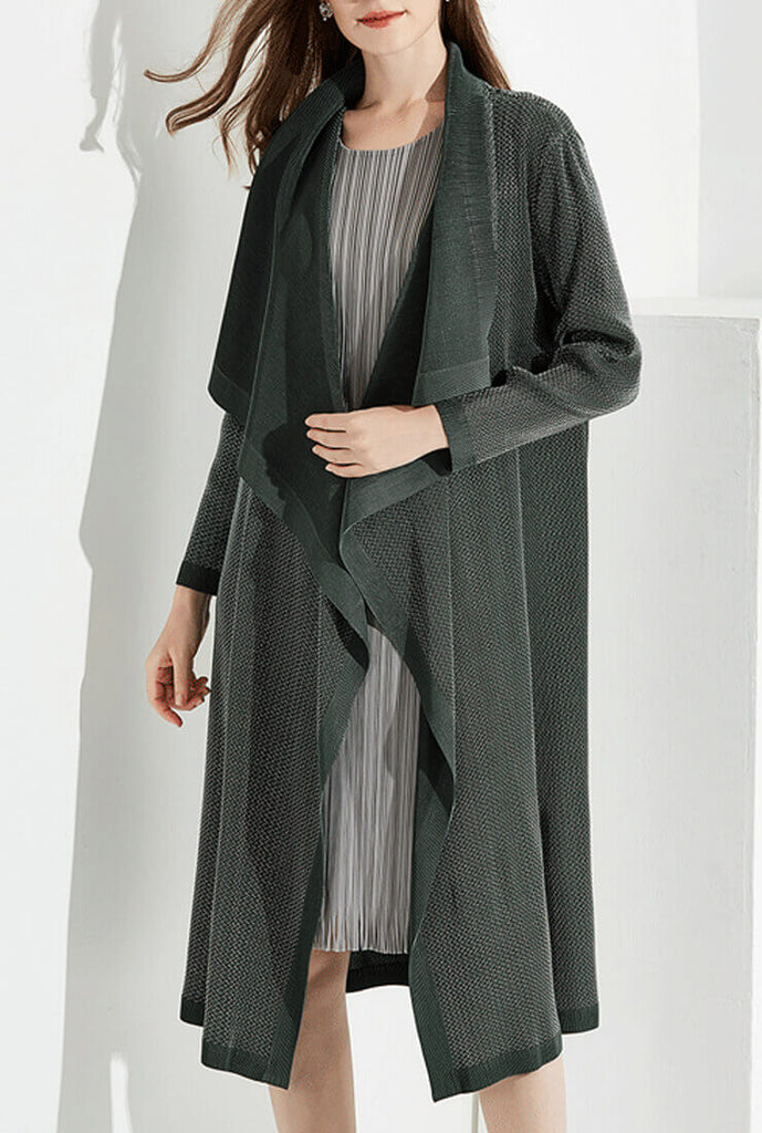 Long Sleeve Lapels Long Coat