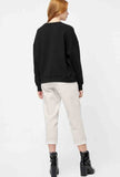 Straight-Leg Corduroy Cropped Casual Pants