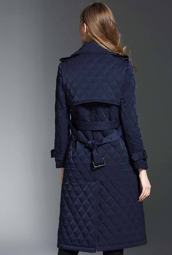 Double-breasted Quilted Puffer Long Coat