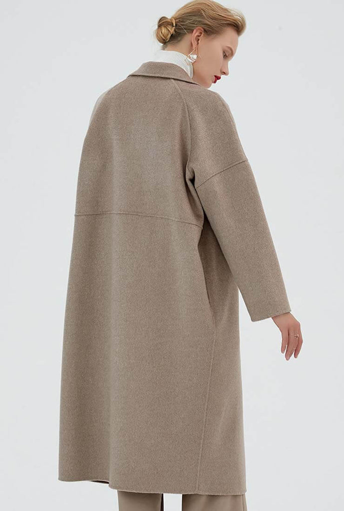 Loose Double-faced Cashmere & Wool Coat