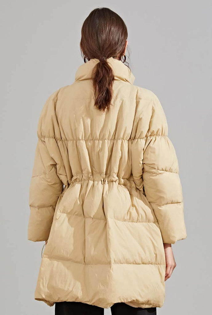 Loose Mid-Length Down Bubble Coat