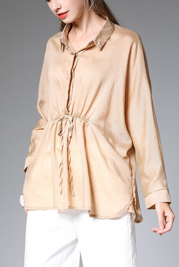 Loose Plus Size Long Sleeved Shirt