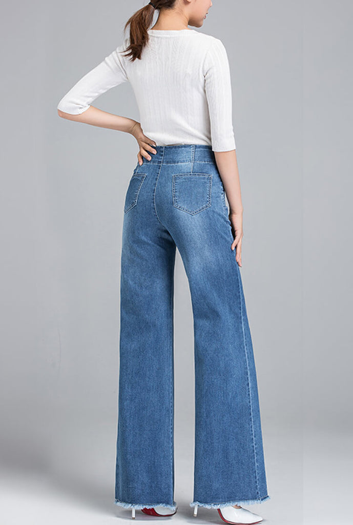 Loose Straight High Waist Wide Jeans