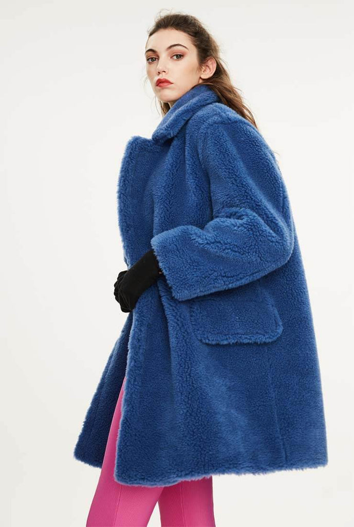 Loose Wool Teddy Coat Warm Long Coat