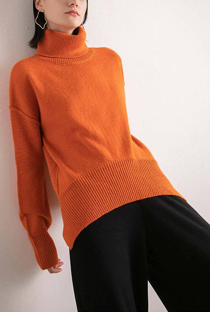 Loose Turtleneck Long Sleeve Sweater Pullover
